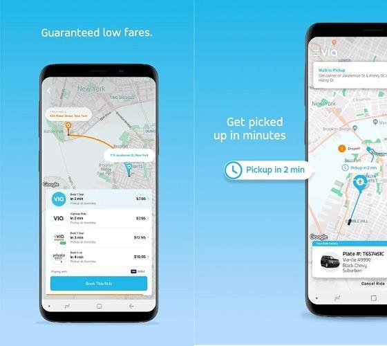 Via Rideshare Screenshot