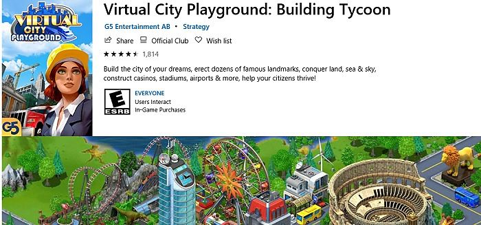 Virtual City Playground Building Tycoon Microsoft Store
