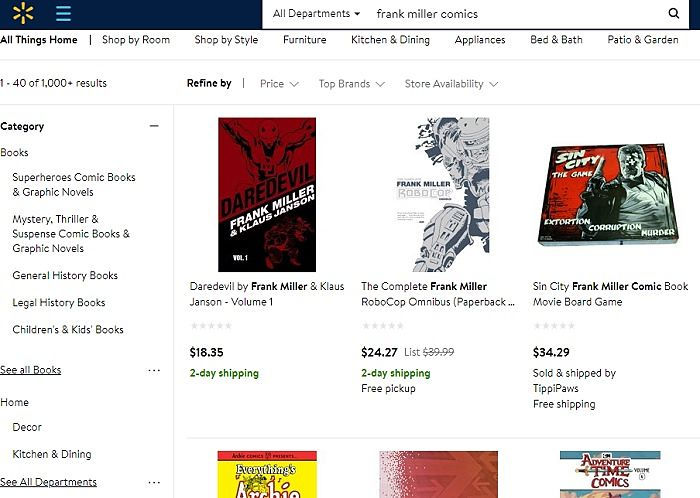 Walmart Search Results Frank Miller Comics Img