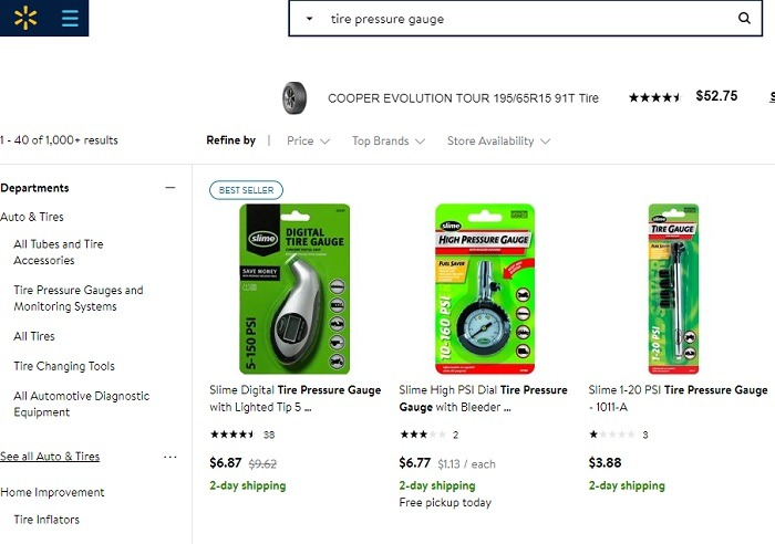 Walmart Search Results Tire Pressure Gauge