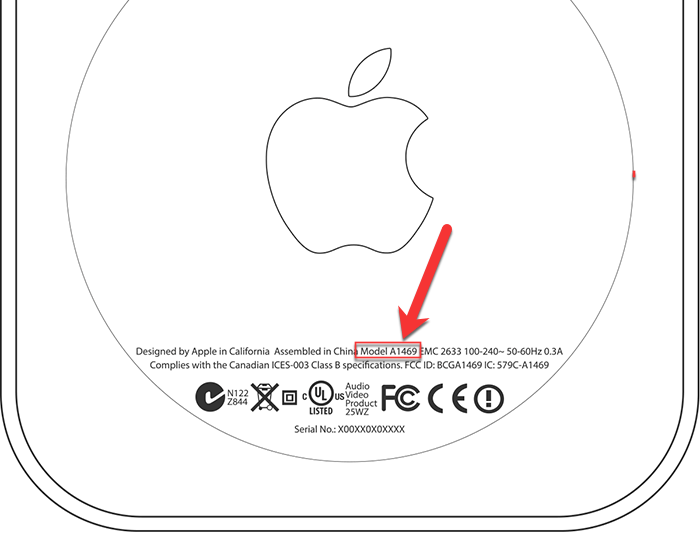 Appletv Model Number Location