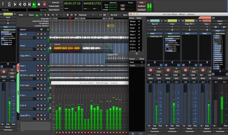Best Apps Creating Recording Music Linux Ardour