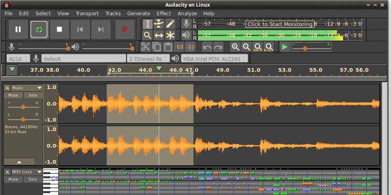Best Apps Creating Recording Music Linux Audacity