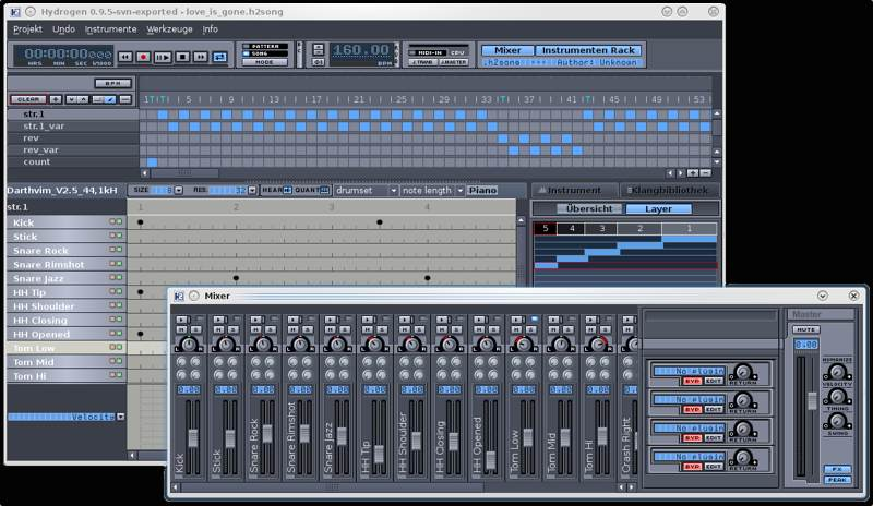 Best Apps Creating Recording Music Linux Hydrogen