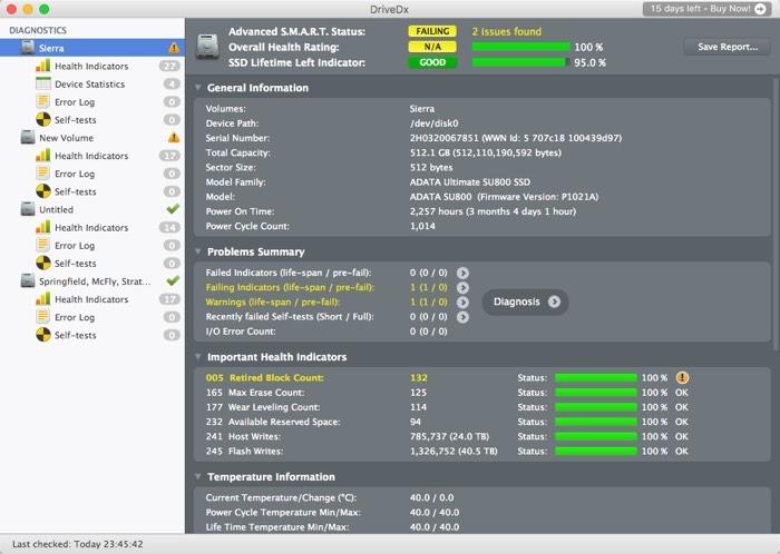 Check Ssd Health Macos Drive Dx