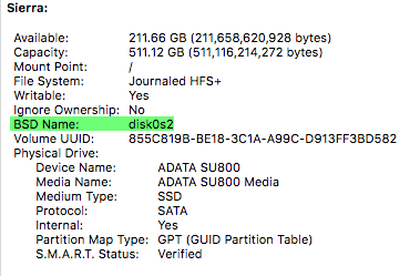 Check Ssd Health Macos Smart Status Drive Identifier
