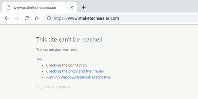 Chrome Err Connection Reset Error Featured