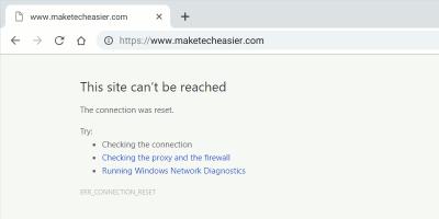Chrome Err Connection Reset Error Featured