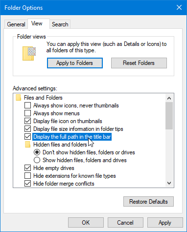 File Explorer Tips 04 Full Path