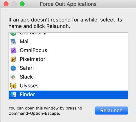 Fix Mac Error Code 43 Force Quit Finder