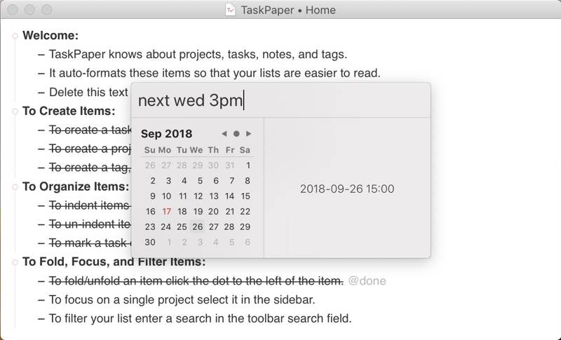 Intro To Taskpaper Date Picker