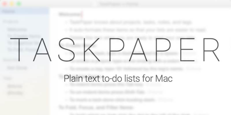 Intro To Taskpaper Featured
