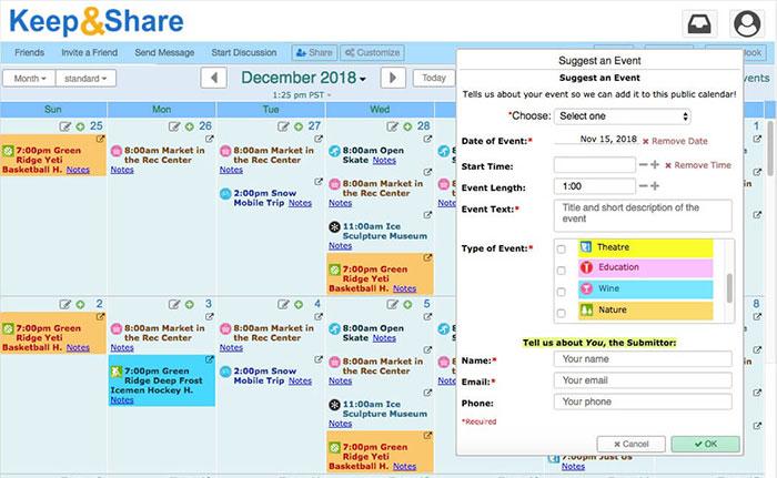 Keepandshare Google Calendar Alternatives 1