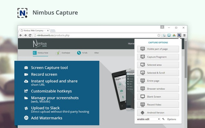 Take Screenshot In Chromebook Nimbus Extension