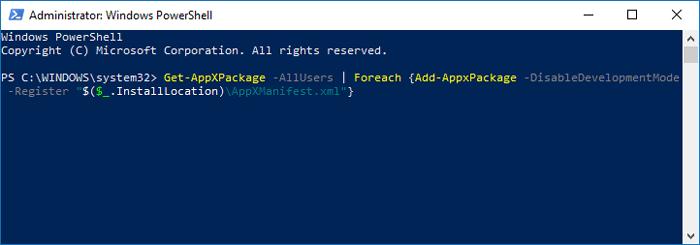Taskbar Not Working Windows 10 Powershell