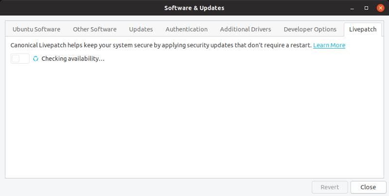 Ubuntu 19 04 Livepatch