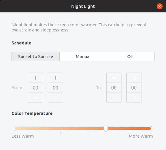 Ubuntu 19 04 Nightlight