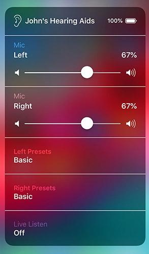 Useful Control Center Widgets Live Listen Crop