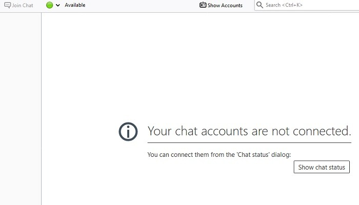 Chat Status Thuderbird