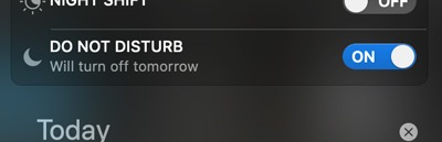 Do Not Disturb Mac Will Turn Off Tomorrow