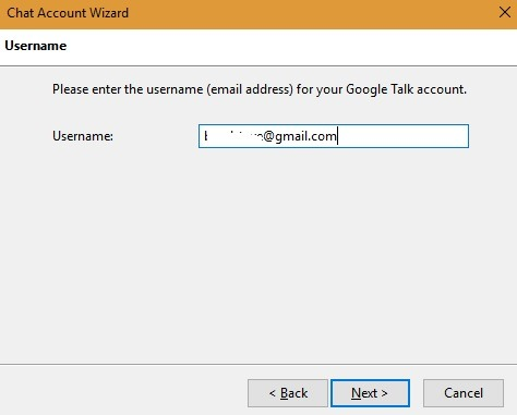 Google Talk Account Thunderbird