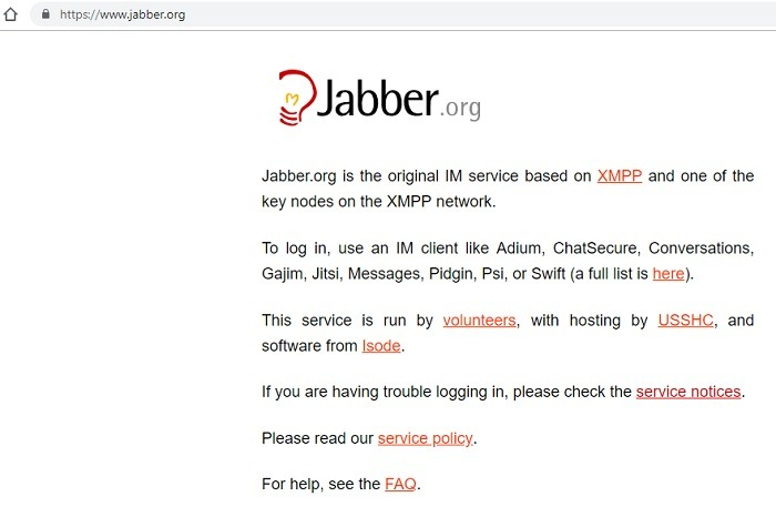 Jabber Website