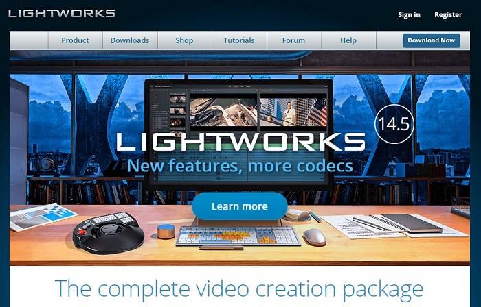 Lightworks Homepageii