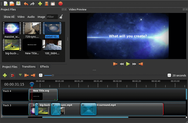 Linux Video Editing Openshot