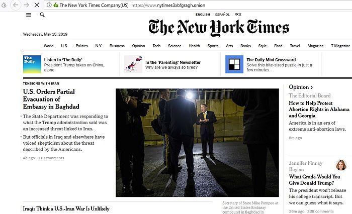 New York Times Tor Opt