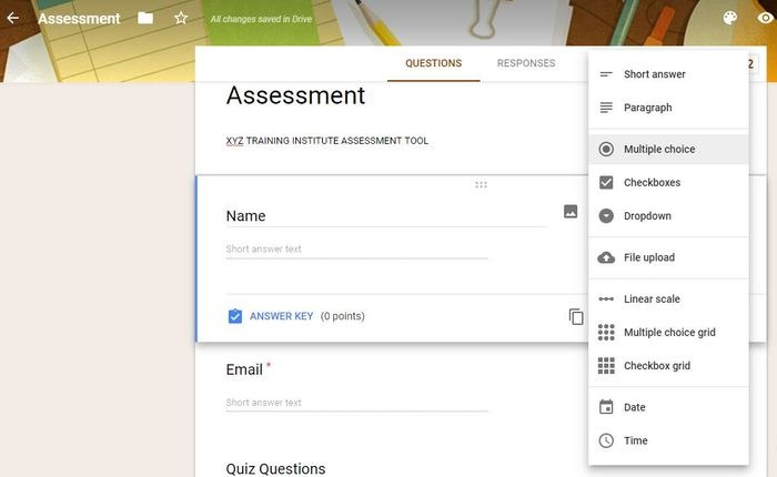 Ways Use Google Forms Assessment Answers