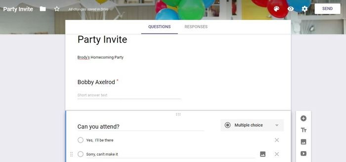 Ways Use Google Forms Party Invite