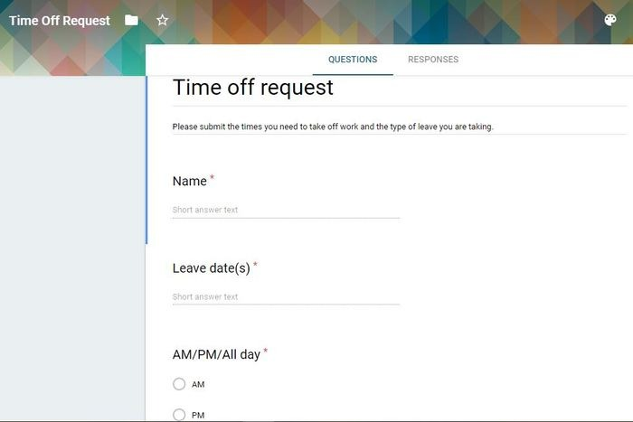 Ways Use Google Forms Time Off Request