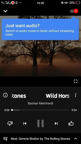 Youtube Music Audio Play