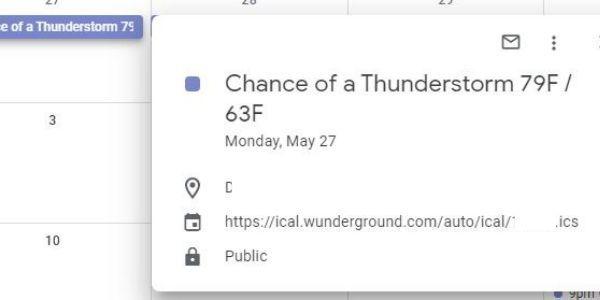 Add Google Calendars Weather Display