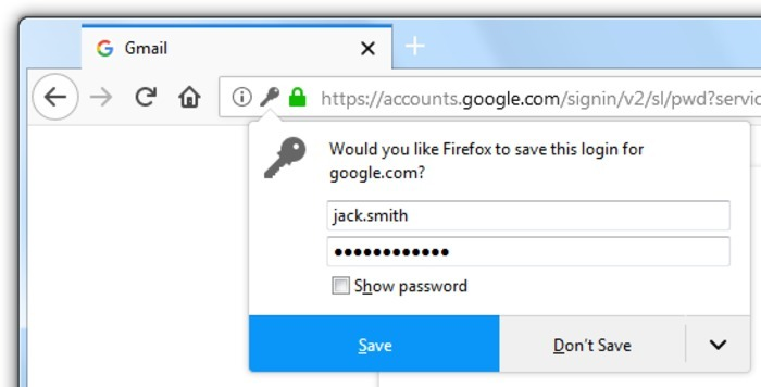 Browser Password Manager Firefox