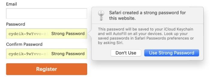 Browser Password Manager Safari