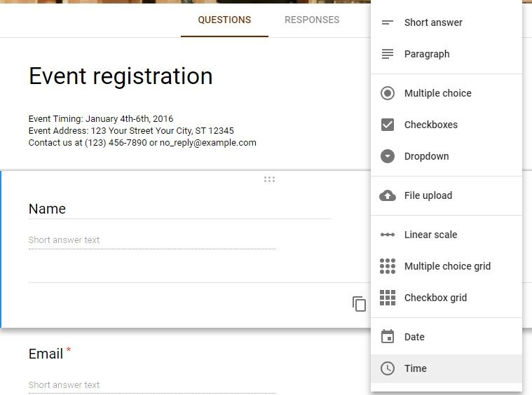 How to Create an Event Registration Form with Google Forms