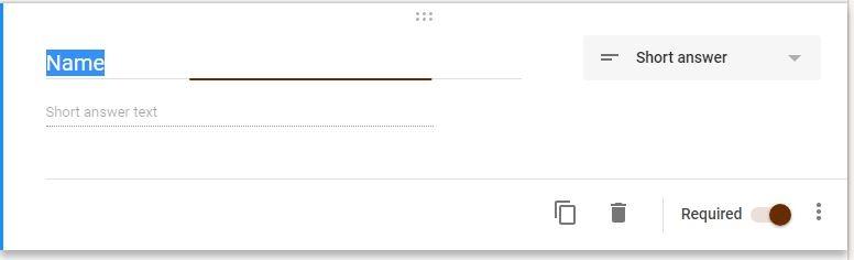 Google Forms Registration Question Options