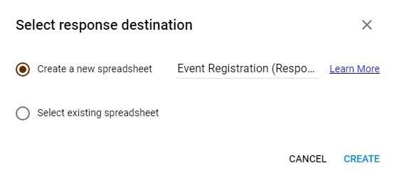 Google Forms Registration Responses Spreadsheet