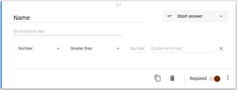 Google Forms Registration Validation