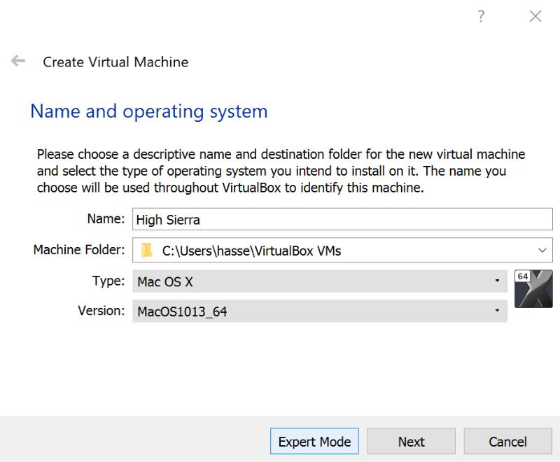 macOs Virtualbox Operating System