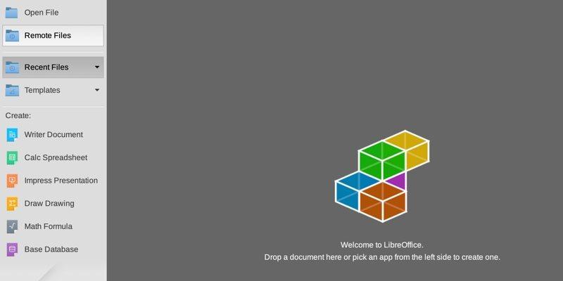 Open Edit Remote Files Google Drive Libreoffice Start Center