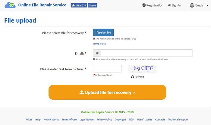 Recovery Toolbox Dwg Online Upload File