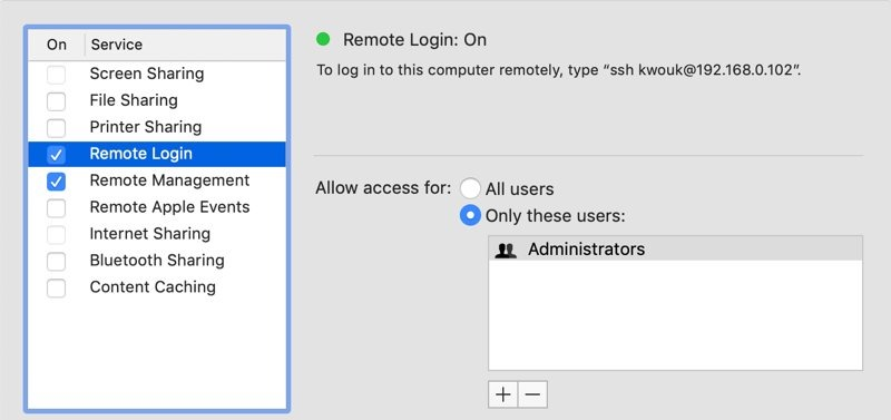 Remote Access Mac External Computer Ssh Setup