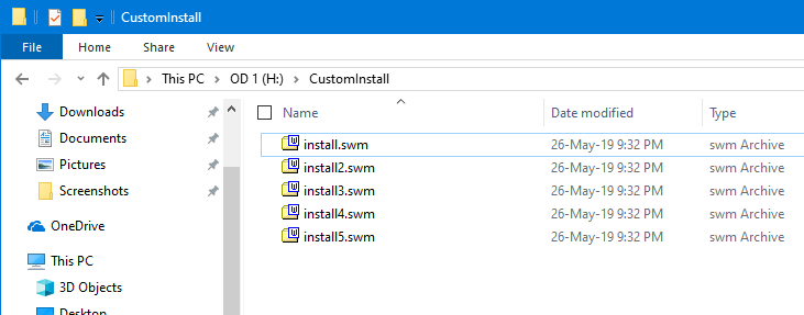Split Install Wim File Command Split Files