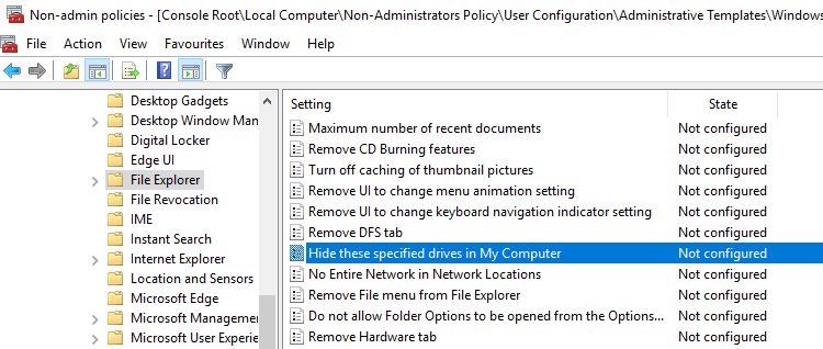 Windows Non Admin Group Policy Change Policy