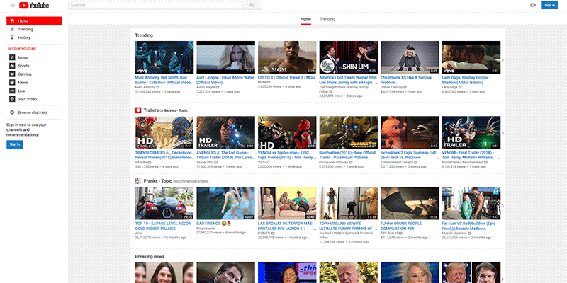 Youtube Classic Featured
