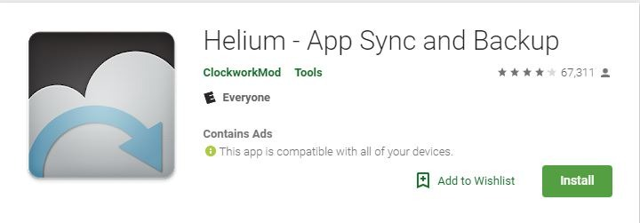 Android Backup Apps Helium