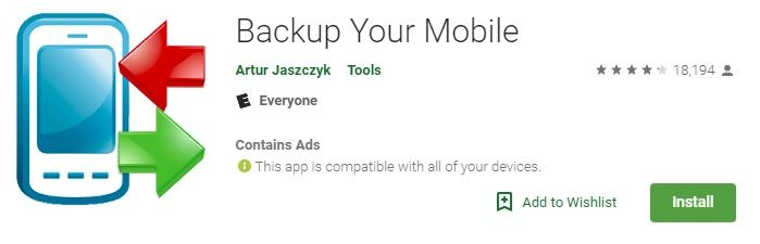 Android Backup Apps Backup Your Mobile