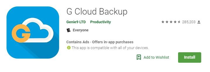 Android Backup Apps Gcloud